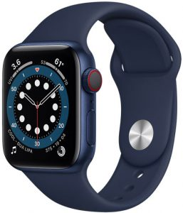picture of Apple Watch 6, $100+ off trade-in. Plus get $100 off w/iPhone purchase