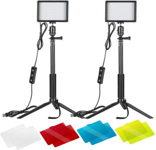 picture of Neewer 5600K USB Video Lights with Adjustable Tripods, 2 Pack, Sale