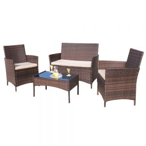 picture of Walnew 4-Piece Outdoor Furniture Set Sale