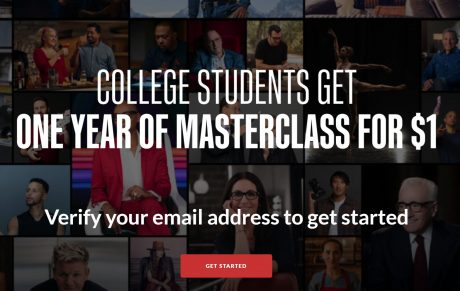 picture of One Year of Masterclass for $1 - .edu email required