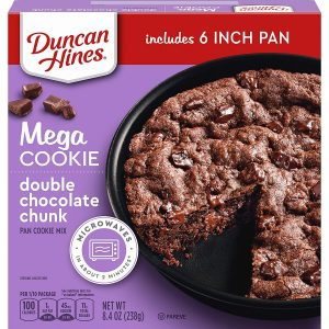 picture of Duncan Hines Mega Cookie Double Chocolate Chunk Pan Cookie Mix, 8.4 OZ, Sale