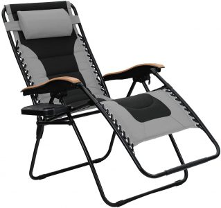 picture of PHI VILLA Oversize XL Padded Zero Gravity Lounge Chair
