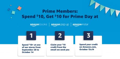 picture of Prime Members: Spend $10 at local Amazon Stores, Get $10 for Prime Day