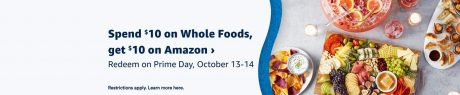 picture of Amazon Prime Members: Spend $10 at Whole Foods Get $10 Amazon Promotional Credit