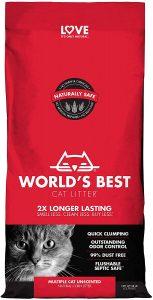 picture of World's Best Cat Litter, Clumping Litter Formula, 28-Pounds