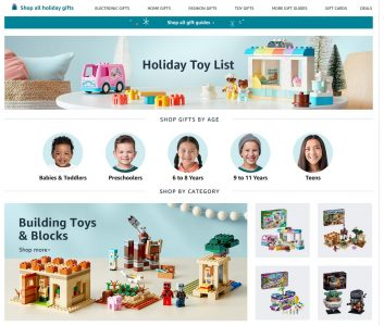 picture of Amazon Holiday Toy List 2020