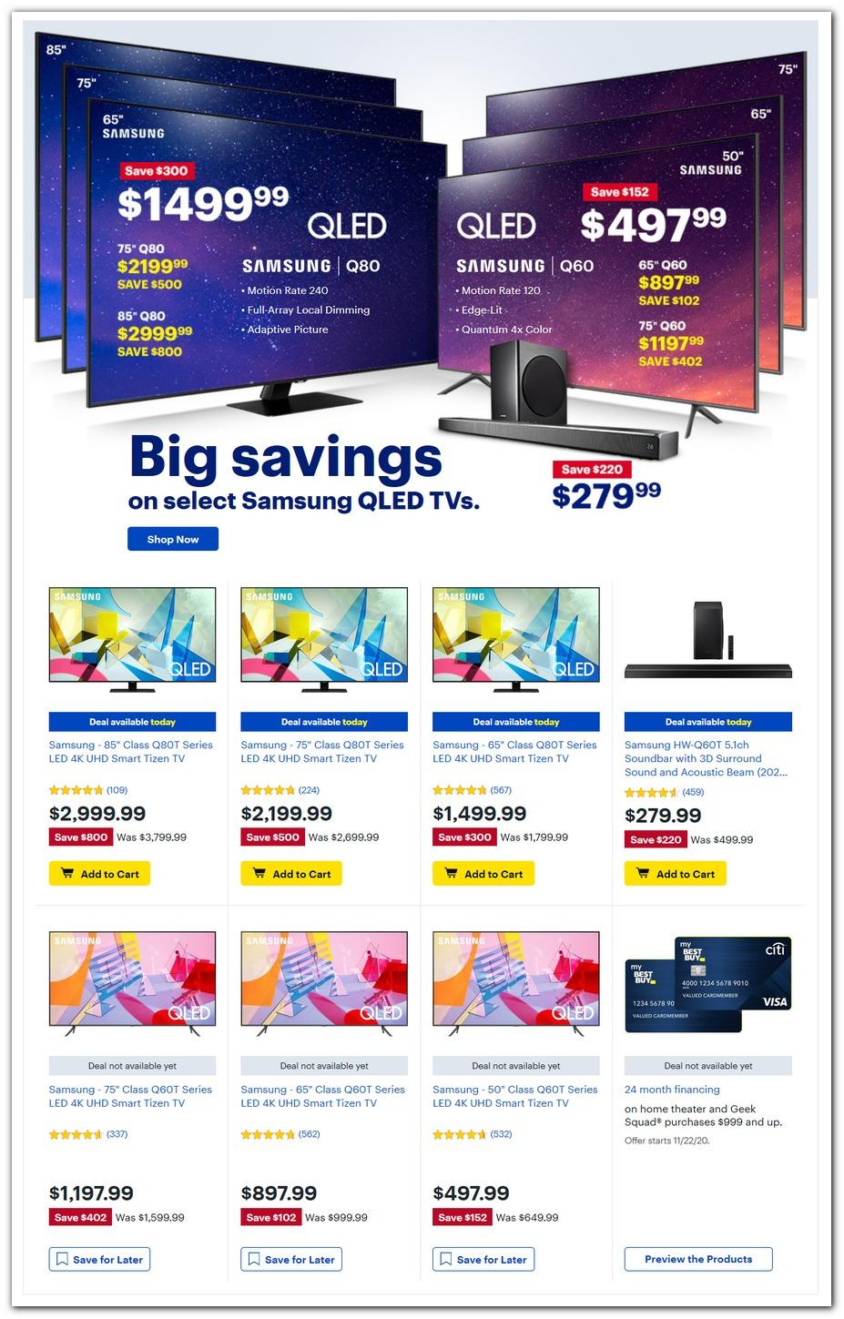Best Buy Black Friday 2020 Ad