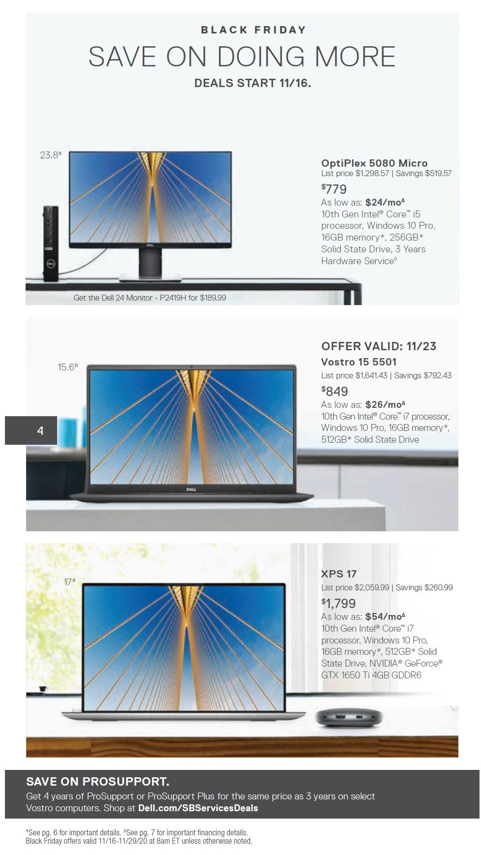 Dell Small Business Black Friday Ad 2020