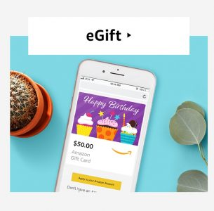 picture of Select Accounts: $5 Bonus Promo Credit with Purchase of $50 Amazon eGift Card