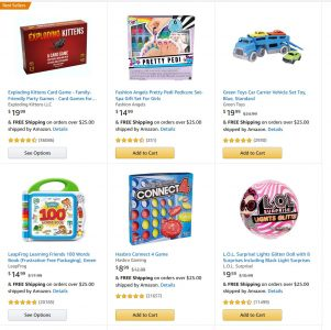 picture of Amazon $10 off $50 on Select Toys