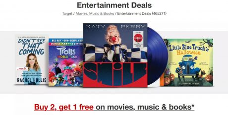 picture of Buy 2, Get 1 free on Movies, Music & Books