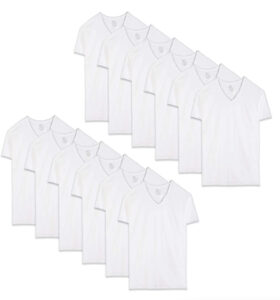 picture of Fruit of the Loom Men's Stay Tucked V-Neck T-Shirt 12-Pack Sale