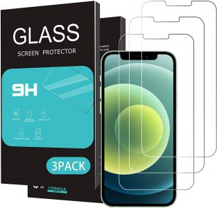 picture of iPhone 12, 12 Pro, Mini, Max Glass Screen Protector 3 Pack Sale