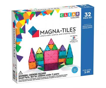 picture of Magna-Tiles 32-Piece Clear Colors Set, STEM Approved Sale