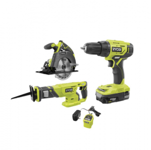 picture of Ryobi 18V One+ Cordless 3-Tool Combo Kit Sale