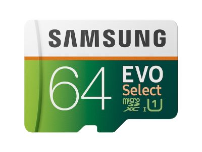 picture of Samsung 64GB EVO Select MicroSDXC Memory Card w/Adapter Sale