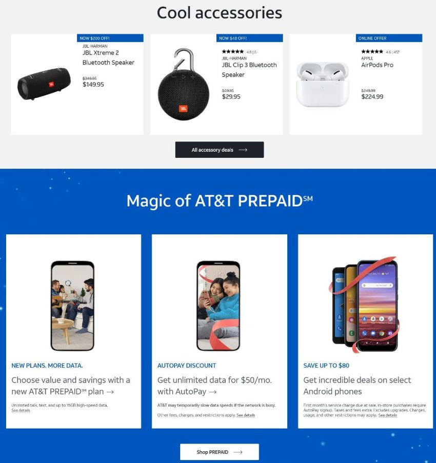 AT&T Wireless Black Friday 2020 Ad