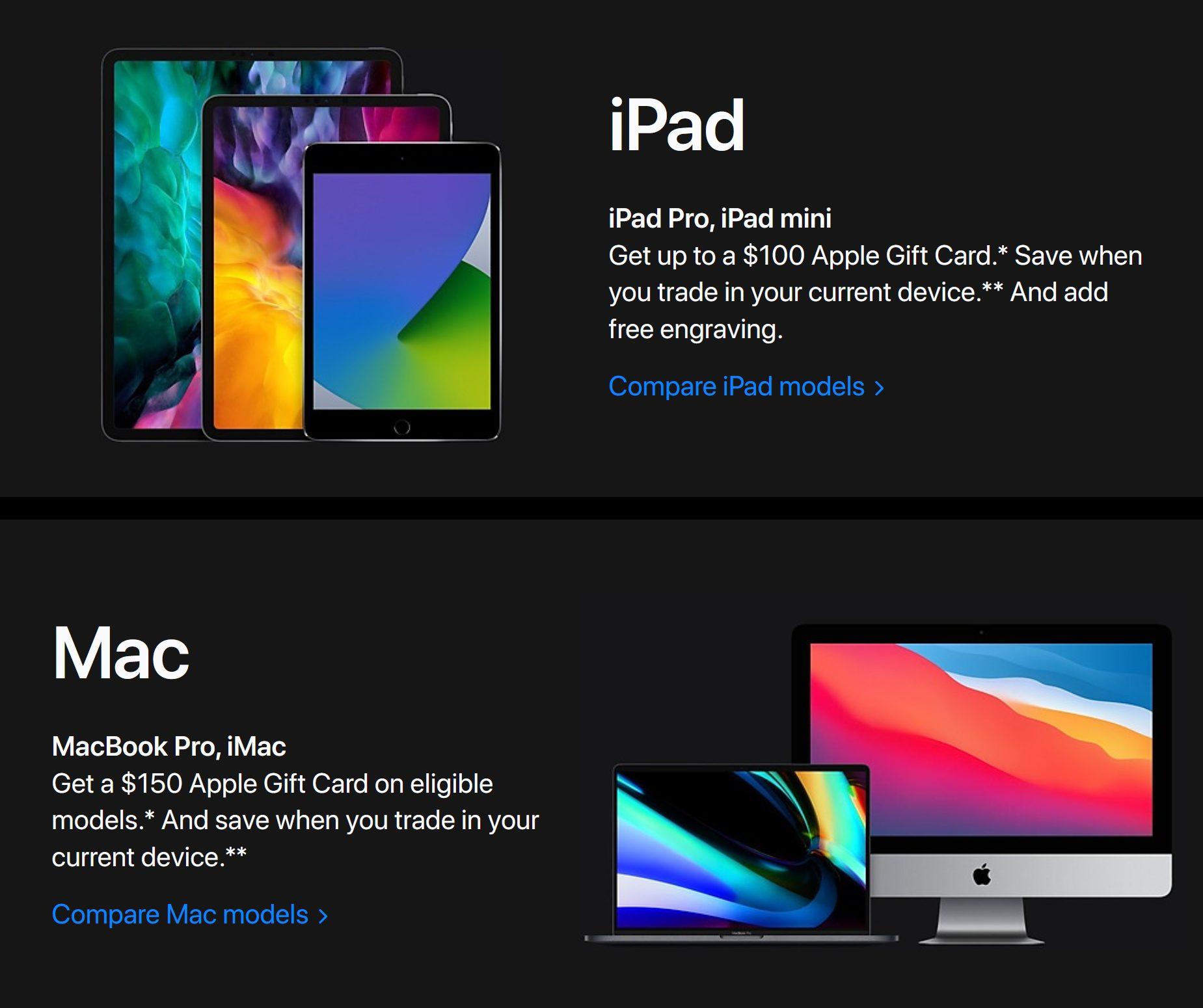 Apple Store Black Friday 2020 Ad