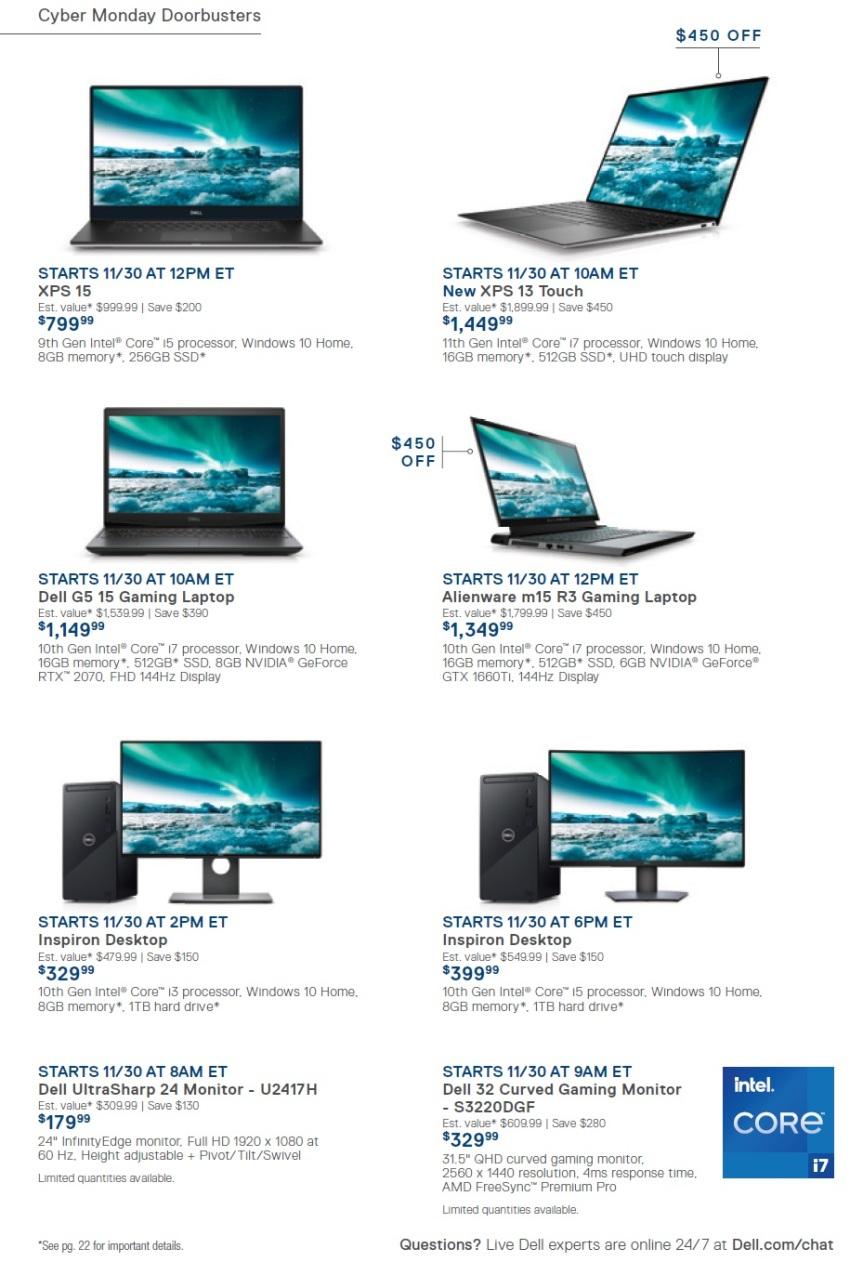 Dell Home Cyber Monday 2020 Ad