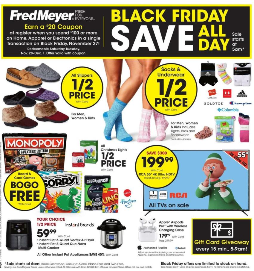 Fred Meyer Black Friday 2020 Ad