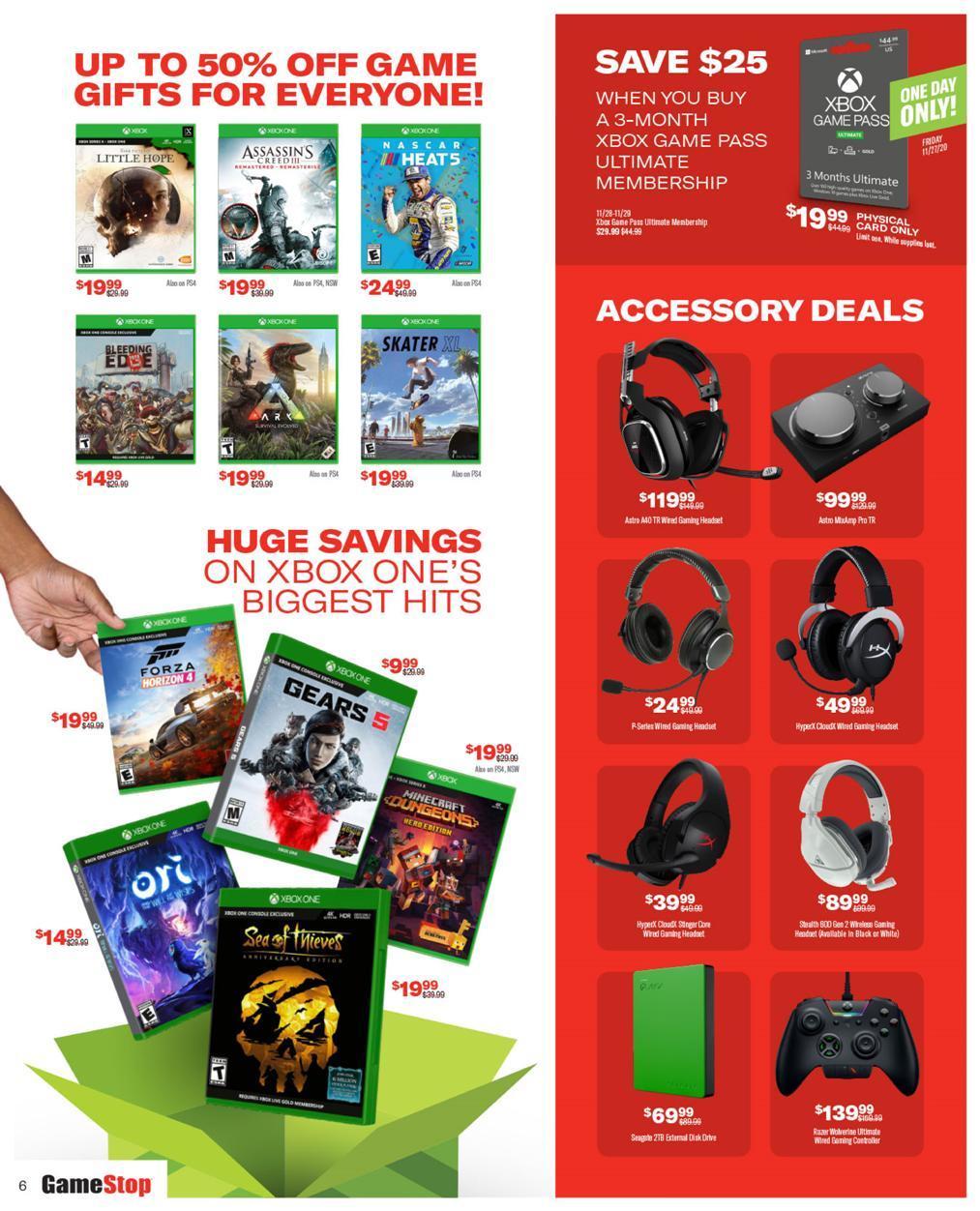 Gamestop Black Friday 2020 Ad