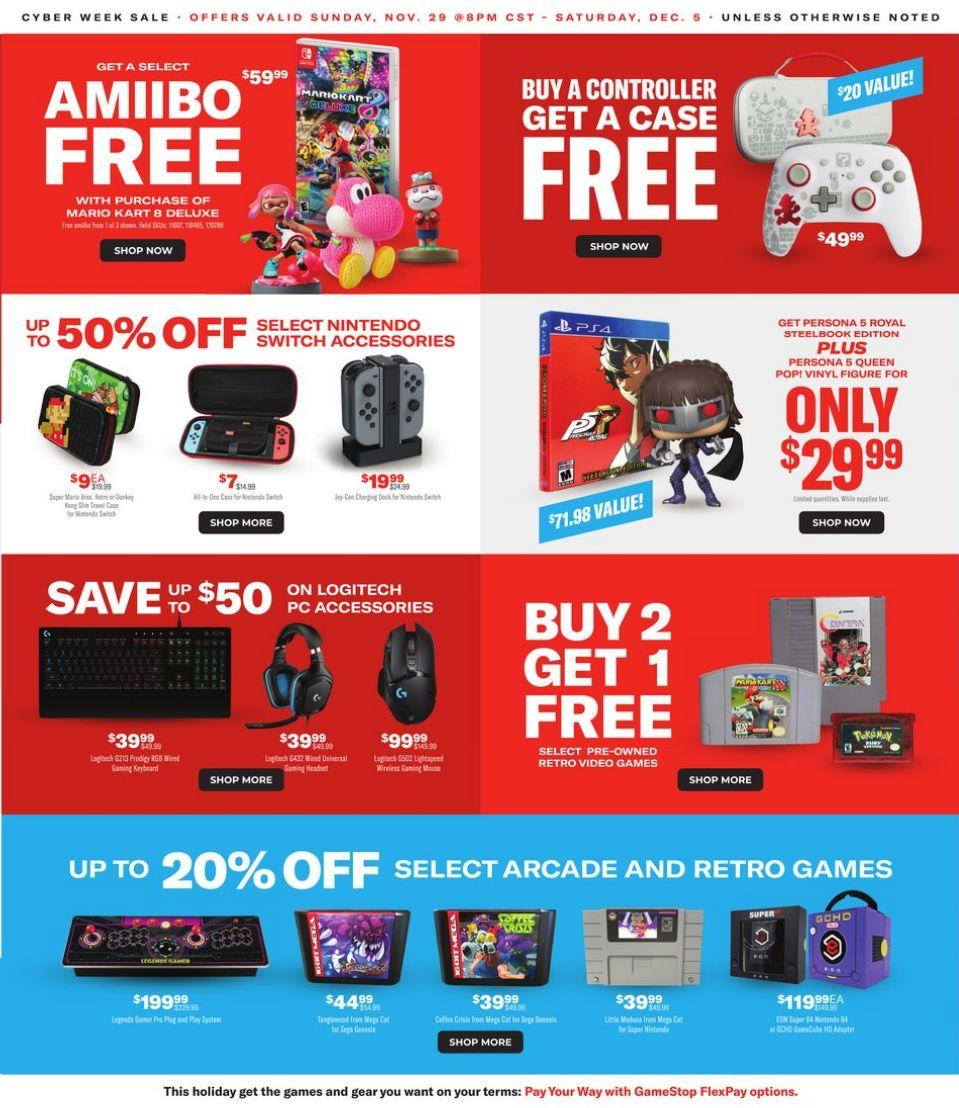 Gamestop CyberMonday 2020 Ad