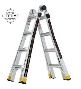 picture of Gorilla Ladders 18 ft Reach Aluminum 300 lb Capacity Ladder Sale