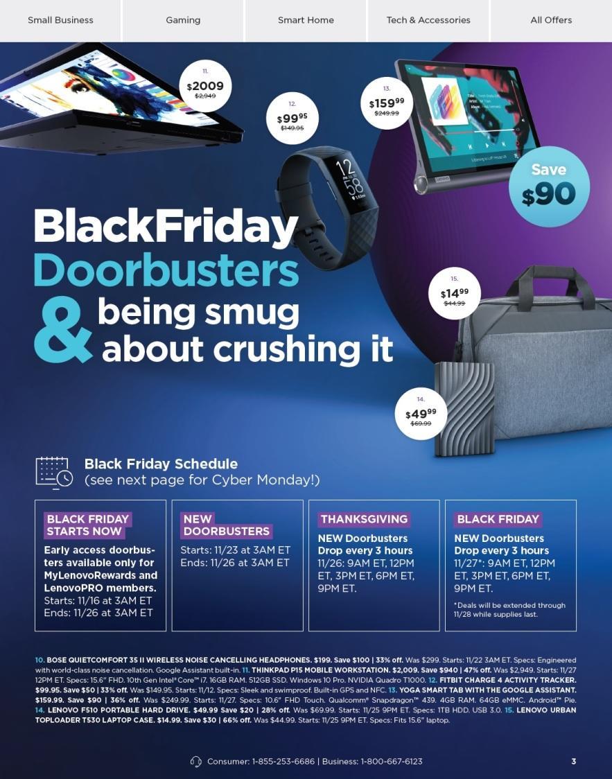 Lenovo Black Friday 2020 Ad