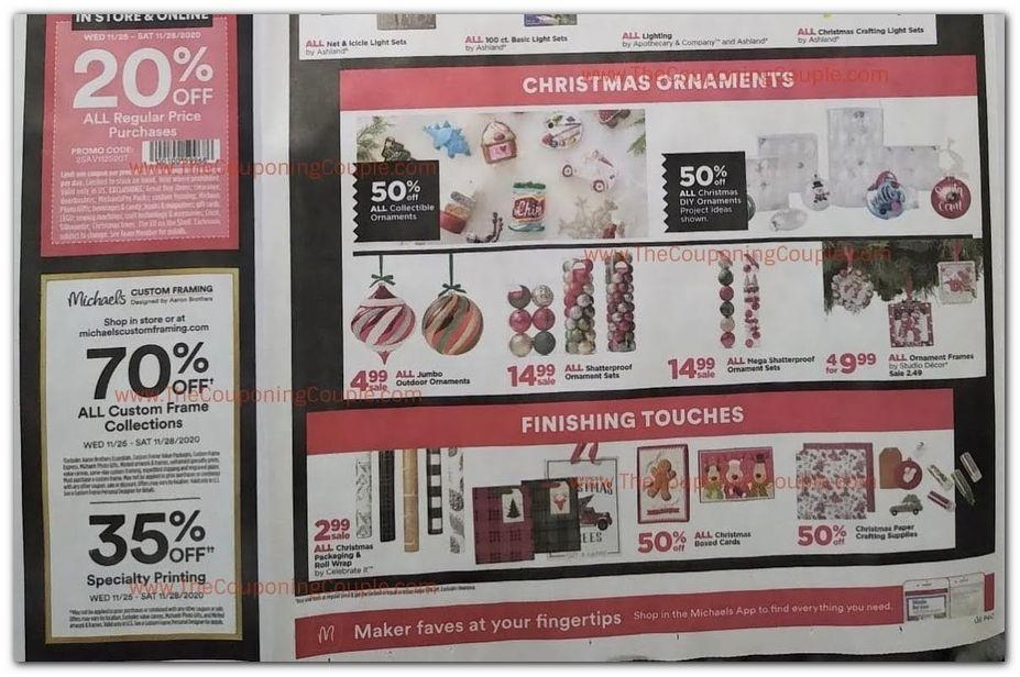 Michaels Coupons Promotions Specials November 2020