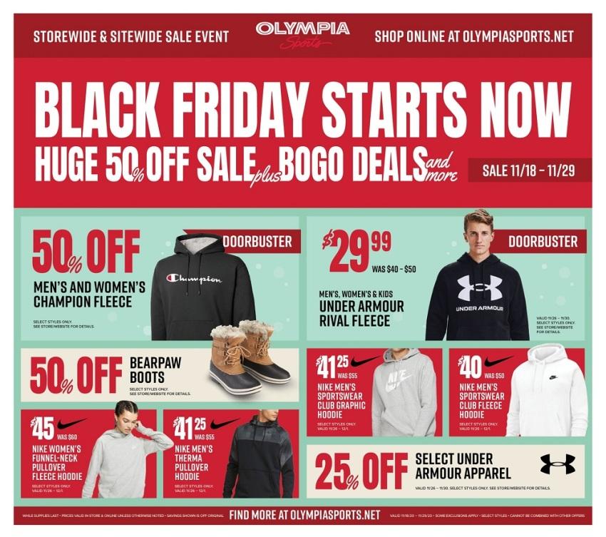Olympia Sports Black Friday 2020 Ad