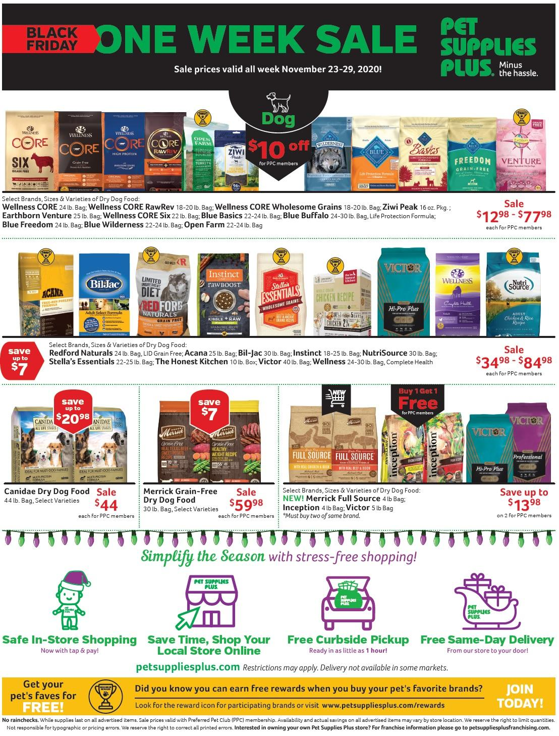 Pet Supplies plus Black Friday 2020 Ad