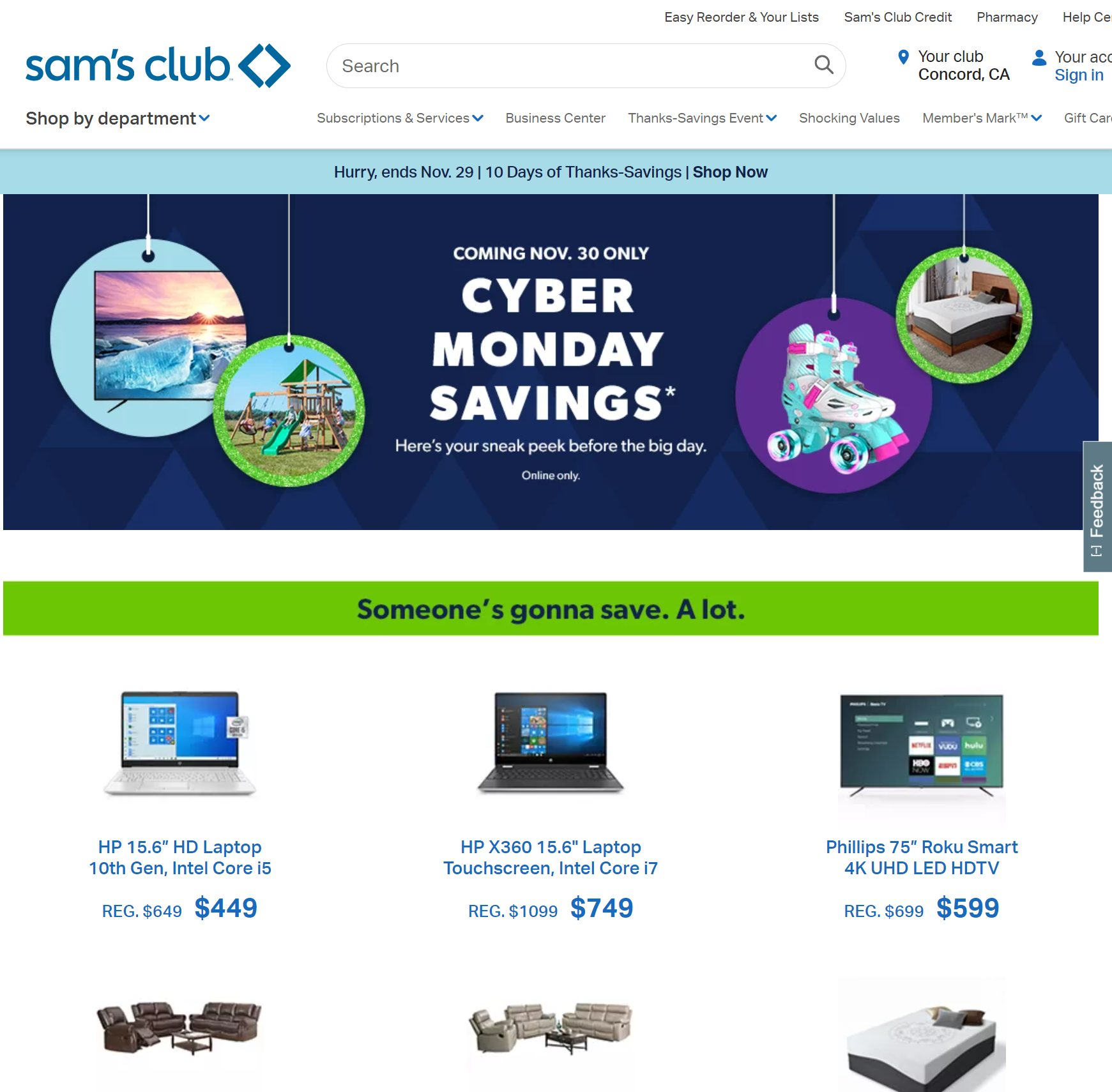 Sams Club Cyber Monday 2020 Ad