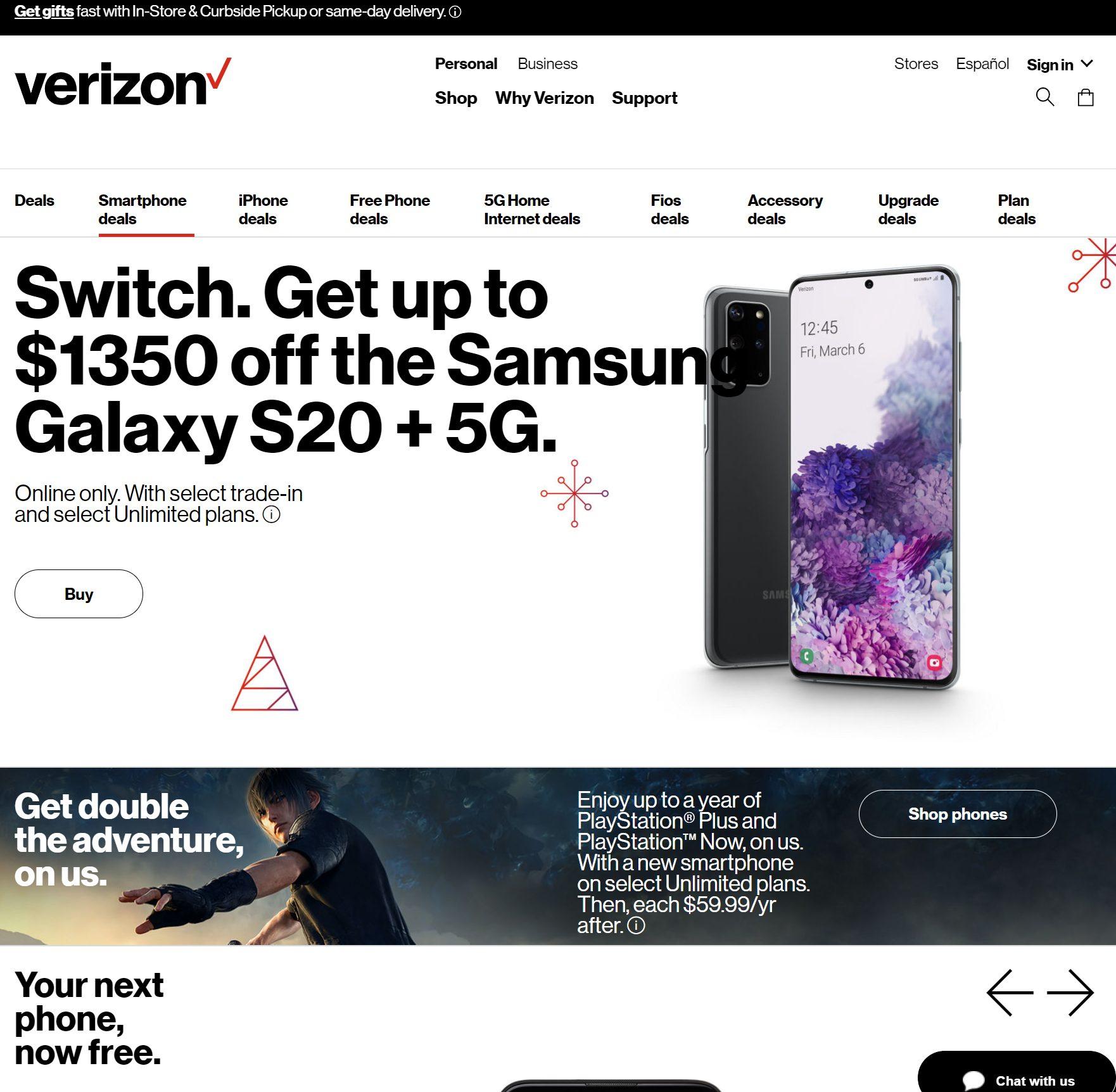 Verizon Wireless Black Friday 2020 Ad