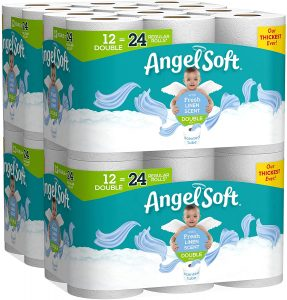 picture of Angel Soft Toilet Paper, Linen Scent, Double Rolls, Bath Tissue, 12 Count