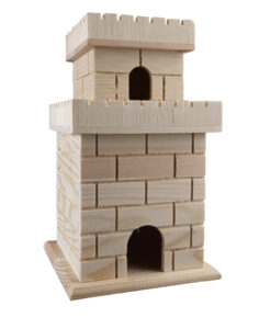 picture of Expiring Today: ArtMinds Ready-to-Paint Wooden Birdhouses, Castle, Sale