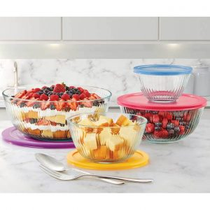 picture of Costco Members: 8-Piece Pyrex Sculpted Glass Mixing Bowl Set Sale