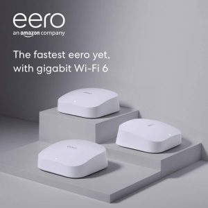 picture of eero Pro 6 AX4200 Tri-Band Wi-Fi 6 Mesh Wifi System, 3-Pack, Sale