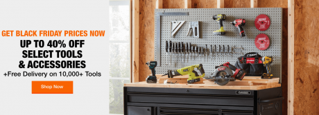 picture of Home Depot Early Black Friday Sale - Up to 50% Off Select Tools and Accessories, Major Appliances