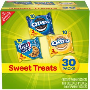 picture of Nabisco Sweet Treats Cookie Variety Pack OREO, OREO Golden & CHIPS AHOY!, 30 Snack Packs Sale