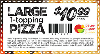 Peter Piper Pizza Coupon