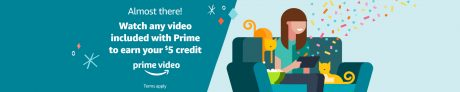 picture of Select Prime Members: Stream Video and Earn $5 Credit