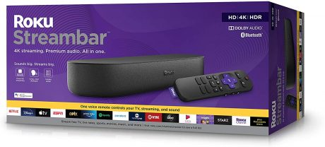 picture of Roku Streambar | 4K/HD/HDR Streaming Media Player & Premium Audio Sale