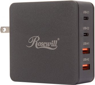 picture of Rosewill 66W 4-Port Dual QC3.0 Dual USB-C Wall Charger Sale