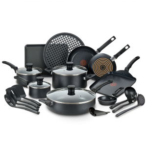 picture of T-fal Kitchen Solutions 22-Piece Nonstick Cookware Set Sale