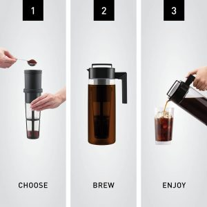 picture of Takeya Patented Deluxe Cold Brew Coffee Maker, 1 Quart Sale