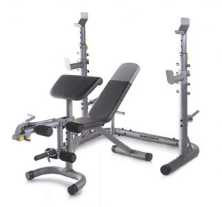picture of Weider Olympic Workout Bench with Squat Rack