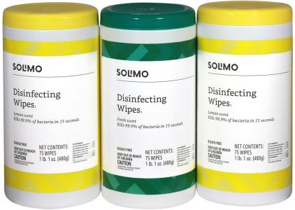 picture of Amazon Brand - Solimo Disinfecting Wipes 75 Count (Pack of 3) Sale