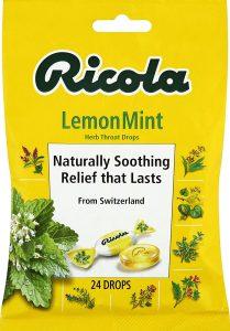 picture of Ricola Lemon Mint Herbal Cough Suppressant Throat Drops, 24ct, Sale
