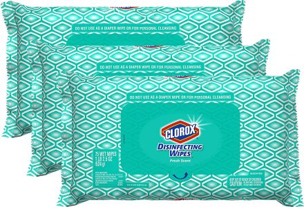 picture of Clorox Disinfecting Bleach Free Cleaning Wipes, 75 Wipes, Pack Of 3 Sale