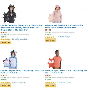picture of Cubcoats Transforming 2in1 Kids Hoodies Sale